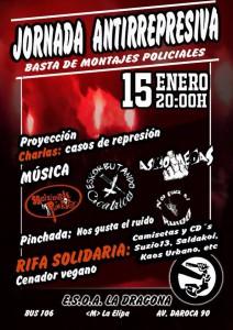 Jornada antirrepresiva en La Dragona 15-01-16