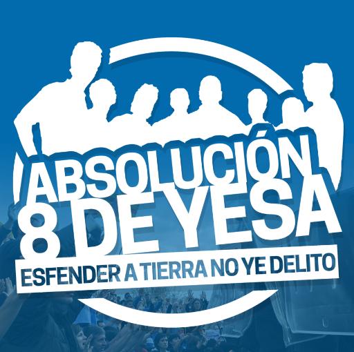 Concentración en apoyo a los 8 de Yesa en Madrid