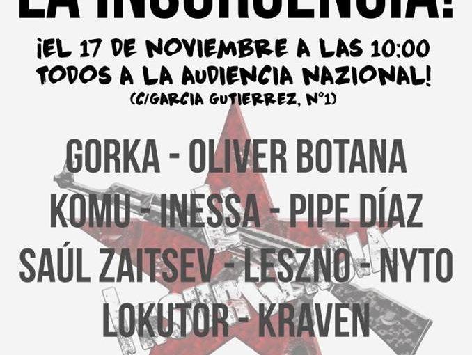 Comunicado de apoyo al colectivo musical 'La Insurgencia'